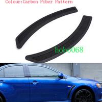 lancer fibra de carbono venda por atacado-2x muito para mitsubishi lancer evo car auto fender tiras decorativas padrão de fibra de carbono diy