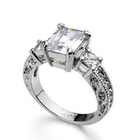 Wholesale Si Diamond Ring - 2 CT ROUND CUT DIAMOND D SI ENGAGEMENT RING 14K WHITE GOLD ENHANCED