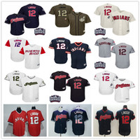 Men black classics - Puerto Rico WBC Francisco Lindor Cleveland Indians Grey Gray White Blue Pull Down Green Majestic MLB World Baseball Classic Jerseys