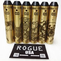 Großhandel 6 Styles Brass Rogue USA-Kit Mechanische Mod Clone und 4 Farben Rogue Force Rebuildable Dripping Zerstäuber