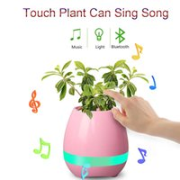 Wholesale Wholesale For Night Stands - 2017 bluetooth Smart Music Flower pots intelligent real plant touch play flowerpot colorful light long time play bass speaker Night light