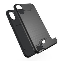Per iPhone X 8 plus Custodia Porta carta Slot Supporto per fondello Porta cavalletto per Galaxy S8 Custodia per armatura iPhone 6 6plus 7 Plus S8 plus in borsa OPP