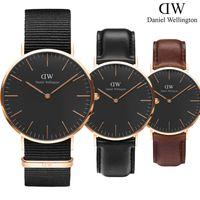 Wholesale Brown Leather Quartz - New Men Daniel Wellington watches DW 40mm Men watches 36 Women Watches Luxury Brand Famous Quartz Wrist Watch Female Relogio Montre Femme