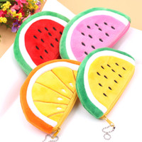 Wholesale Wholesale Patchwork Wallets - Watermelon Coin Purse Pocket Wallet Pouch Bag Case Pendant Purse Bag Case BAG Wallet Handbag Wallet for Women Xmas New Small Gifts