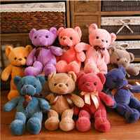 33CM Soft Teddy Bears Plush Toys Stuffed Animals Bear Dolls with Bowtie Kids Toys for Children Birthday Gifts Party Decor