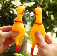 Wholesale shrilling screaming rubber chicken toy for sale - Group buy pet dog puppy Screaming Shrilling Yellow Chicken Pet Dog toy Kids Sound Toy Non toxi cat Rubber Chewing chick Toys