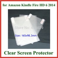Wholesale Screen Protectors For Kindle Fire - Wholesale- 3pcs Transparent Clear Screen Protector Protective Film for Amazon Kindle Fire HD 6 2014 NO Retail Package