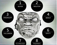Wholesale Tactical combat readiness manufacturers selling field mask mask of terror Halloween mask real cs desert V6