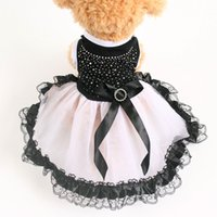 Wholesale summer clothing stores for sale - Armi store Rhinestone Butterfly Black Dog Dress Princess Dresses For Dogs Pet Clothing Supplies XS S M L XL