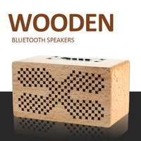 Wholesale usb powered computer speakers online - Wooden Bluetooth Speaker Wood Powered Speakers Portables USB Large Speakers Stereo JL Charge Music Box
