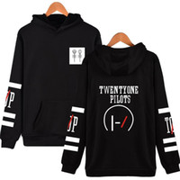 Wholesale One For Hip - 2017 twenty one pilots hoodies for men fashion long sleeve pullover hip hop men hoodies new tide o neck letter print male hoodies top