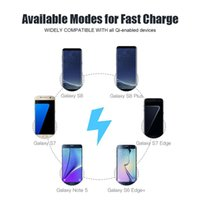2017 Caricabatterie wireless per galaxy note 8 Qi Fast charger pad Stand convertibile