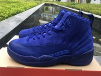 Wholesale Camp Deep - Air retro 12 mens basketball shoes Deep Royal Blue ovo white playoffs flu game taxi the master ganma blue sports shoes eur 41-47