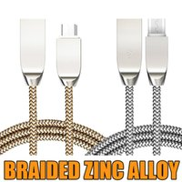 cell phone packaging 2018 - 1M Micro USB Charger Zinc Alloy Head Cell Phone Cable For Samsung HTC Android SONY OPP Package