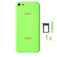 iphone voll zurück gehäuse ersatz großhandel-Qualitäts-nagelneues Ersatzteil-volles Gehäuse-rückseitiges Batterie-Abdeckungs-mittleres Feld-Metallrückseiten-Gehäuse für iPhone 5C Freies Verschiffen