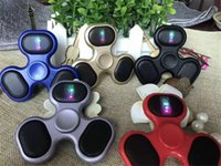 Wholesale Mp3 Set - New LED Bluetooth MP3 Audio Player Fidget Hand Spinner Support Micro SD TF Card Music Speaker fidget spinner
