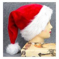Wholesale Warm Santa Hat - Winter Hats Santa ClauseChristmas Kid Cute Top Hat Beanie Hat Warm Wholesale Cotton Cap For Boy Bonnet