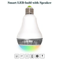 Wholesale E27 Led Remote Base - Smart LED Bulb Bluetooth Speaker LED RGB Light E27 Base Wireless Music Player with APP Remote Control Music bulbs