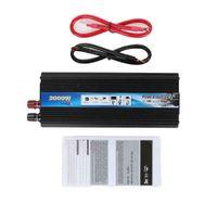 Wholesale 12v Usb Power - Wholesale- Black Gold 2000W power inverter Car Vehicle USB DC 12V to AC 220V Power Inverter Adapter Converter car styling