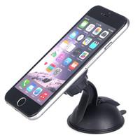 cep telefonu emme toptan satış-Evrensel Mıknatıs Manyetik Araba Pano Montaj Telefon Tutucu Cam Vantuz Dönebilen iphone Samsung Cep telefonu için Standı Tutucu GPS