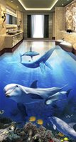 paint adhesion - Custom any size waterproof self adhesion home decoration ocean dolphin custom floor d floor painting wallpaper