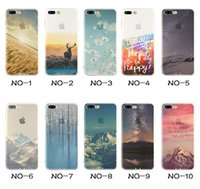 For Apple iPhone paintings eiffel tower - Landscape Painting TPU Phone Cases Elizabeth Tower Big Ben Eiffel Shell Silicone Coloured Drawing Case Cover For iphone plus S SE S