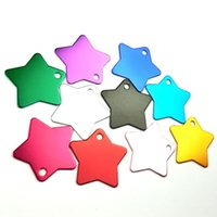 Etiquetas para cães Coloridas em frente e verso personalizadas Gravado Pet Dog Cat Nome Número de telefone ID Tags Charm Star Shape Collar Accessories Wholesale