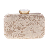 Wholesale Satin Crystal Evening Clutch - Wholesale-New Women Fashion Bridal Lace Day Clutch Party Wedding Dinner Evening Bags Crystal Diamonds Bridesmaid Day Clutch Purse XA1521D