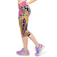 Wholesale Ladies Capri Trousers - Short Leggings For Women Lady Cropped Trousers Vintage Floral Print Elastic Waist Push Up Gothic Capri Pants