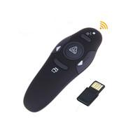 présentateur ppt stylo achat en gros de-Présentateur sans fil avec pointeur laser rouge Stylo USB RF Télécommande PPT Powerpoint Présentation