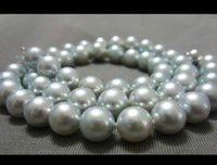 beaded necklaces south sea unisex 1112mm 18 inch gogerous perfect round south sea silver