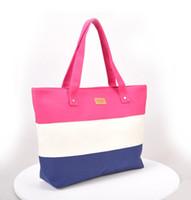 Wholesale Shopper Bags - Canvas Shopper Beach Bags Women Messenger Ladies Handbag Tote Bag 2017 Newest Famous Brand Designer Fre Shipping