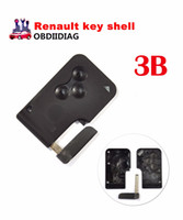Wholesale Control Remote Renault - For Renault MEGANE remote control casing for smart card key blank case cover shell 3 button For Renault key shell