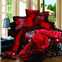 Wholesale Marilyn Monroe Sheets Comforter - 100%Cotton Marilyn Monroe Rose 3D Bedding Sets Queen Size For Girls Room Christomas gift Bed Sheet Duvet Cove 4PCS Bed Set