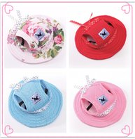 Wholesale Princess Hair Products - Dog Cap Breathable Mesh Dog Princess Caps   Sun Hat   Princess Beach Hat For Small Pet Dogs 2017 Summer Dog Products S,M