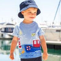 Wholesale Designer Shirts Children - Boys T Shirt 2017 Hot Brand Striped Tops Tee Kids Tops Designer Toddler Baby Boys T Shirt Cotton Short Sleeve Children Tops