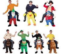 Wholesale Mascot Costume Funny - Halloween Cosplay Carry Me Ride on Bear Oktoberfest Costume Animal Funny Dress Up Fancy Pants Novelty Mascot Costume