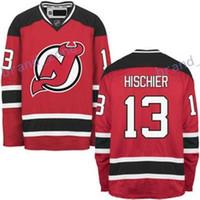 Wholesale Hot Nylon Flashing - Hot NEW ARRIVAL New Jersey Devils #13 Nico Hischier 2017 No.1 Draft Pick Custom NHL Hockey Jerseys White Red Cheap
