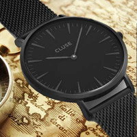 Wholesale Gold Round Belts - 2017 Newest Style Hot Sale Brand Men Quartz Watches atmos clock stainless steel watches watched montre homme luxury Men's Wrist Watches