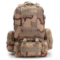 Wholesale 2017 Molle Tactical Backpacks Gear Waterproof D Assault Outdoor Travel Hiking Sport amy Rucksacks Hunting Multi function Bag