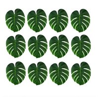 Wholesale artificial leaf for decoration resale online - New Artificial Leaf x29cm Tropical Palm Leaves Simulation Leaf for Hawaiian Luau Theme Party Decorations Home garden decor