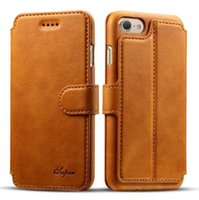 Wholesale Iphone Leahter Case - For iphone 7 Classical Leahter Case Vintage Wallet With Card Holder Stand Flip Phone Cover for iphone6 6 6s plus
