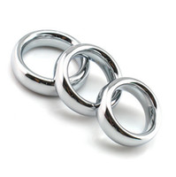 Wholesale free cock rings - free shopping 18mm width stainless 9mm thick metal scrotum ring cock ring delay ejaculation penis ring cockring sex products