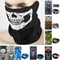 Wholesale Skull Face Mask Holloween party mask sports cycling motorcycle ski half face mask magic scarf mutifunction neckerchief