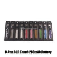 Wholesale Vapor Pen Charger - CE3 O-Pen BUD Touch 280mAh Battery 510 Thread E Cigarettes Vapor Pen With USB Charger For Wax Oil Cartridge Vaporizer DHL