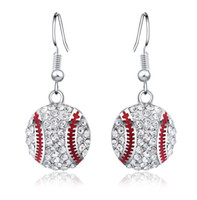 Wholesale New Fashion Explosion Sterling Silver Earrings Baseball Temperament Fashion Earrings Simple Earrings For Women SY