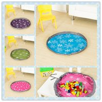 Wholesale Portable High Table - High End 80cm Play Mat Large Portable Toy Storage Bags For Kids Children Infant Baby Playing Mat Organizer Blanket Rug Boxes Easy