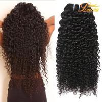doğal saç uzatma fiyatları toptan satış-Fabrika Fiyat Perulu Kıvırcık Saç Uzatma Yeni Varış 100% Işlenmemiş Insan Saçı Örgü Doğal Renk 8-26 Inç Saç Atkı Ücretsiz Kargo