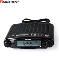 Wholesale Portable Desktop Clock - Wholesale-Tecsun Radio MP-300 DSP FM Stereo USB MP3 Player Desktop Clock ATS Alarm Black FM Portable Radio Receiver Y4137A Tecsun MP300