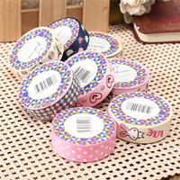 Wholesale Lovely Fabric Tape - Wholesale- 2016 New Arrival High Quality Fashion Design Lovely Cartoon Fabric Satin Craft Tape Sticky Adhesive Decorative Ribbon Trim Decor